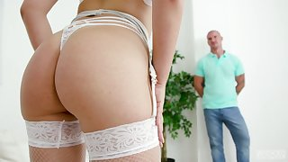 Spreading legs indicative beauteous unspecific Selvaggia gets anal banged enduring